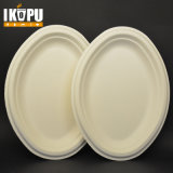 Ecofriendly Paper Pulp Sugarcane Bagasse Oval Plates