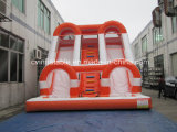 Inflatable Orange Water Slide with Pool