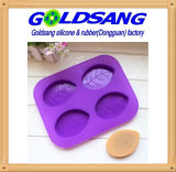 Hot Sale Eco-Friendly Leaf Shaped Silicone Soap Mold