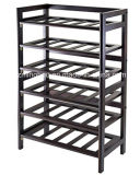 6 Tier 30 Bottle Wooden Wine Shelving for Home Storage