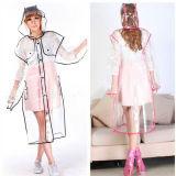 Transparent EVA Raincoat with Printing