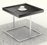 Steel Metallic Livingroom Furniture Side End Coffee Table (CJ-153D)