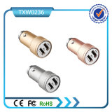 2017 High Quality Aluminum Alloy Mobile Phone Charger USB Car Charger