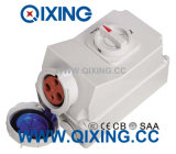 63A 3p Blue Interlocked Receptacle Switch
