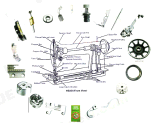 Overlock Sewing Machine Parts of Feed Dog (118-86504)
