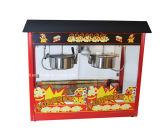 Double S/S Pots Commercial Electrical Popcorn Maker Popcorn Machine