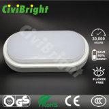 Daylight White 12W Damp-Proof LED Wall Light Oval Bulkhead Lamp