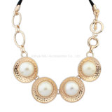 Fashion Statement Necklaces Alloy Gold Plated Pearl Necklace Jewelry
