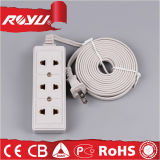 220V Universal Electrical 3 Outlet Retractable Power Strip