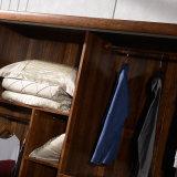 Custom Cherry Wood Bedroom Wardrobe Closet (GSP9-022)