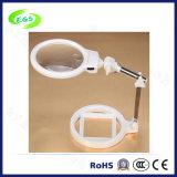 Portable Folding LED Desktop Magnifier Lamp/Lens/Loupe with Light (EGS-3B-4A)