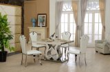 6 Seater Modern Stainless Steel Dining Table