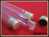 Transparent Borosilicate Glass Test Tube with Aluminum Cover