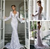 Julie Vino Bridal Dresses Lace Beads V-Neck Wedding Dress Dz18