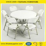 White Plastic Dinner Table Chair Set on Sale