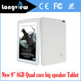 9 Inch Dual Camera 0.3MP 0.3MP Android 4.4 Quad Core Tablet PC with Big Speaker and 8GB Storage