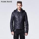 2015 Autumn New Design Punk Rave Black Man Coat (Y-609)