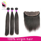 Virgin Remy Straight Brazilian Human Hair Extension with Closure