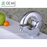 Fashion Design O Shape Round Brass Basin Faucet (QH0771)