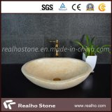 Sunny Yellow Marble Washing Vessel