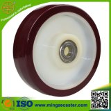Red Polyurethane Tyre Nylon Centre Wheels with Precison Ball Bearings