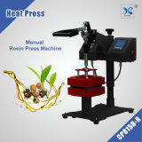 "5""X5"" Clamshell style heat press Rosin Press Dual Element Heating"