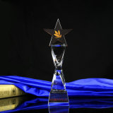Crystal Glass Trophy with Five-Pointed Star