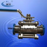 Sanitary Ball Valve with ISO Mount Plate