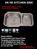 Kitchen Sink, Sink, Handmade Sink, Stainless Steel Sink 9553al