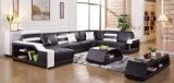 Simple Genuine Leather Sofa Set