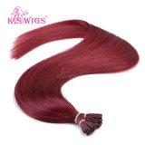 K. S Wigs 7A Grade Full Ending Brazilian Hair I Tip Keratin Hair Extension