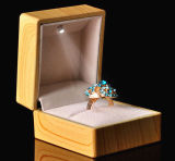 Luxurious Wooden Ring Display Box with LED Light