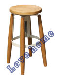 Replica Restaurant Leisure Furniture Rotatable Wooden Bar Stools