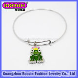 fashion Silver Frog Charm Bangle Bracelet Jewelry for Kids #31454
