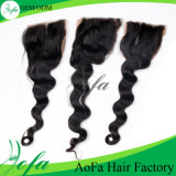 Wholesale Fashion Style Indian Natural Color Human Hair Lace Closure