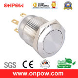 Onpow 19mm Metal Pushbutton Switch (LAS1GQ-11/S, CE, CCC, RoHS compliant)