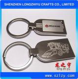 Zinc Alloy Keychain Shiny Silver keychain with Company Logo