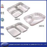Aluminum Material 3 Compartment Aluminum Foil Container Three Zone