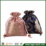 Fashion Embroidery Satin Drawstring Jewellery Pouch