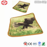 Square Soft Plush Eagle Printed Pillowcase with Zipper