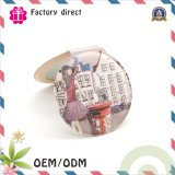 Glass Cosmetic Art Paper Pocket Make up Mirror