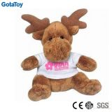 Competitive Price Factory Custom Plush Toy Moose with Cotton Shirt