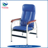 Steel Infusion Recliner with Wooden Armrest