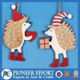 Wooden Christmas Hedgehog Design for Hanging Decorations