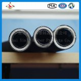 Four Wire Steel Spiraled Hydraulic Rubber Hose 4sp Tube