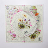 Colorful Flower Printed Party Favors Paper Tableware Napkin