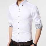 New Arrival Long Sleeve Casual Slim Fit Male Shirts