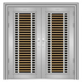 Double Stainless Steel Security Door (DY-2240)