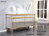 Living Room Mirrored Furniture with 6 Drawers