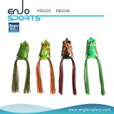 Hollow Body Frog Fishing Lure Top Water Tackle Hooks Bass Soft Bait Fishing Fresh Water Lure (FR0106)